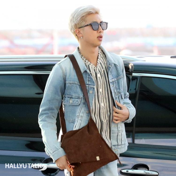 Bts' leader RM clicked at Incheon International Airport in 2019