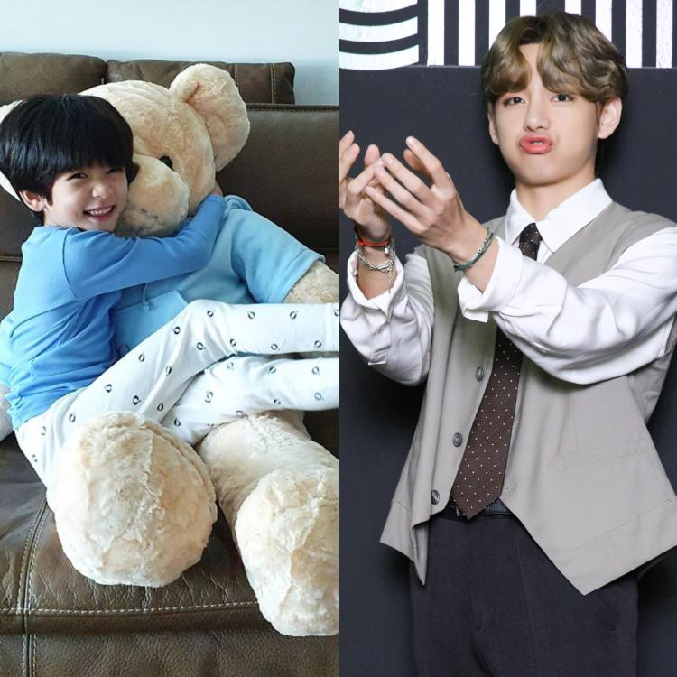 Lee Dam took to Instagram to share some snaps with the giant teddy bear gifted by BTS' V