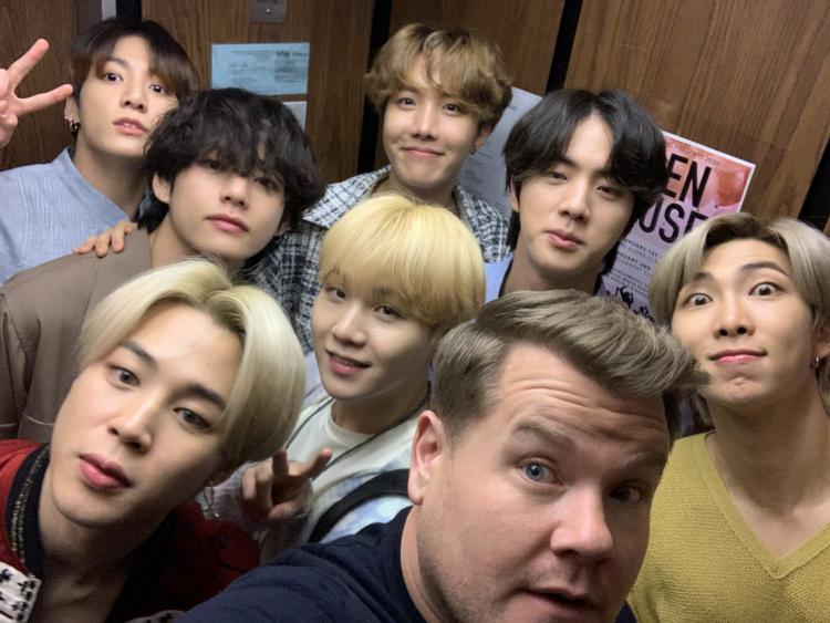 It was indeed a memorable night for ARMY as BTS conqueredThe Late Late Show with James Corden.