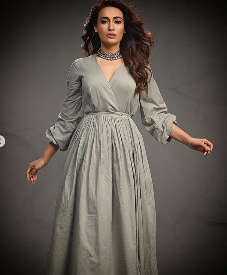 Surbhi Jyoti dons a pastel grey dress in new PHOTOS and we are totally crushing over it