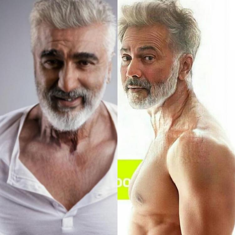 Check out these pictures shared by celebs who took on the popular FaceApp 'Old' filter