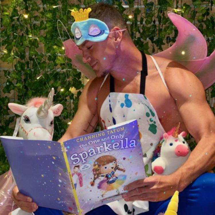 Channing Tatum transforms into a shirtless fairy to promote new children's book he wrote for daughter Everly