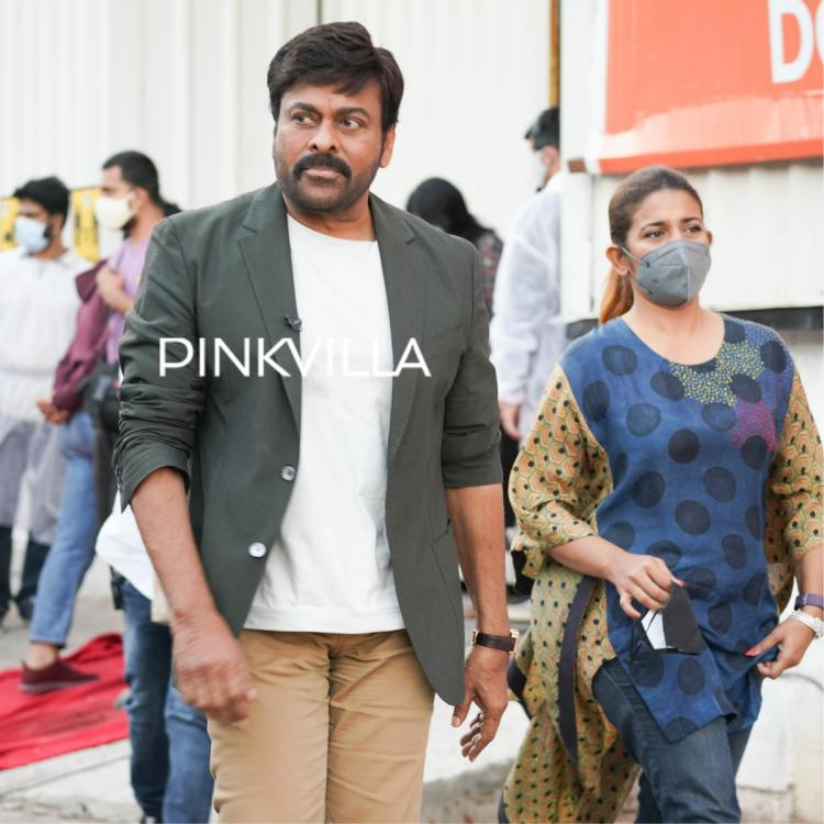Chiranjeevi looks dapper in formal suit as he is spotted during Samantha Akkineni's talk show; See PHOTOS