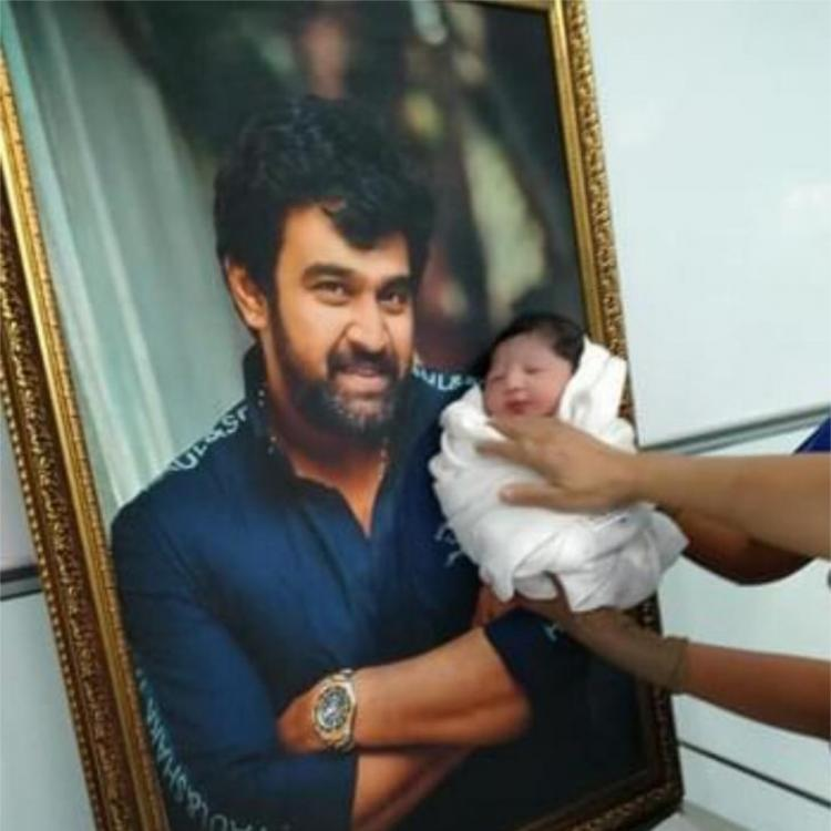 Chiranjeevi Sarja's fans distribute sweets, burst crackers outside hospital after the arrival of junior