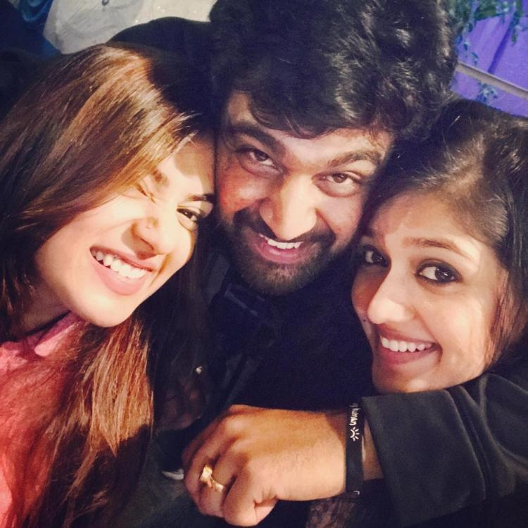 Nazriya Nazim Chiranjeevi Sarja and Meghana Raj photo