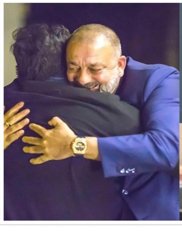 Chiranjeevi shares a throwback pic with Sanjay Dutt as he wishes him a speedy recovery with an emotional note