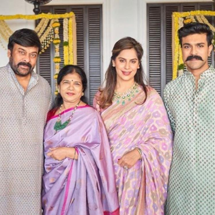 Chiranjeevi & Ram Charan posing with their better halves in THIS throwback family PIC is worth a glimpse