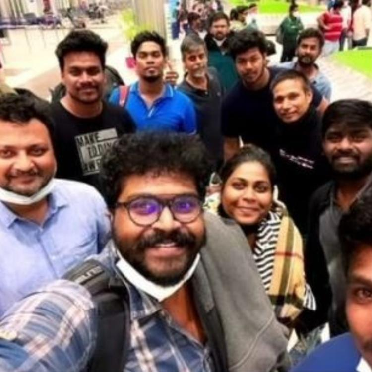 Chiyaan Vikram's Cobra team back in Chennai after wrapping up schedule in Russia; Shares PHOTO