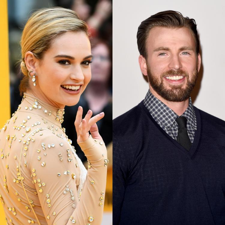 Chris Evans and Lily James partied at a private club in London until 1 am.