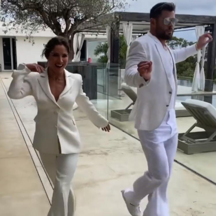 Chris Hemsworth and Elsa Pataky hosted a star-studded white party
