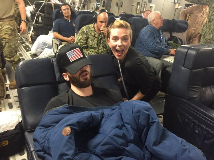 Avengers Endgame S Scarlett Johansson Cannot Hold Back Her Grin In This Hilarious Photo With Chris Evans Pinkvilla