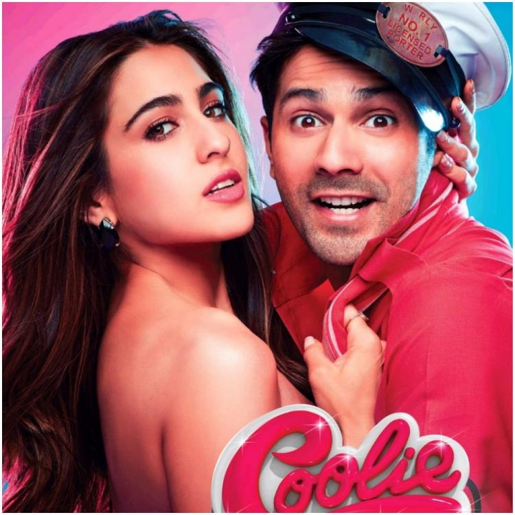 Coolie No 1 Posters OUT: Sara Ali Khan's glam avatar meets Varun Dhawan's goofiness in the film's FIRST look