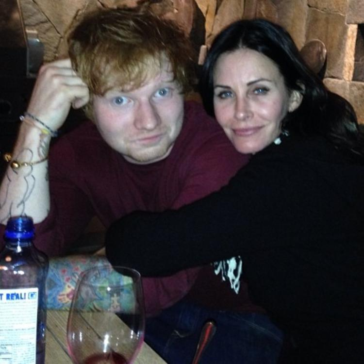 Courteney Cox and Ed Sheeran have been friends since 2013