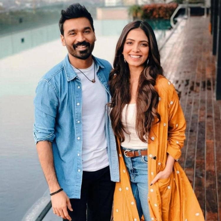 Malavika Mohanan is all praises for Dhanush as she posts photos with him from D43 sets; Here's how he reacted