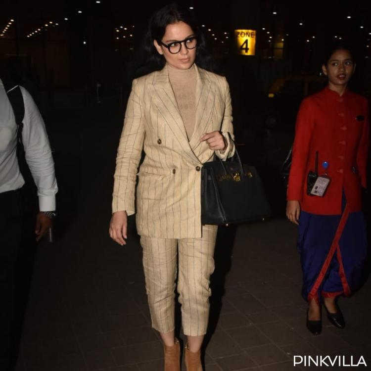 PHOTOS: Kangana Ranaut looks like a boss lady in a pantsuit as she arrives at the airport