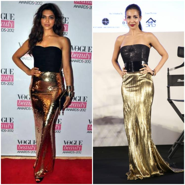 Fashion Faceoff: Deepika Padukone or Malaika Arora; who wore the black and gold strapless gown better