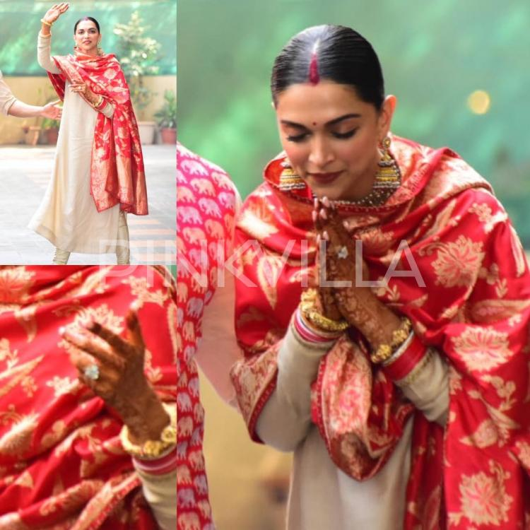 Sindoor, Chooda and a sparkling smile, Deepika Padukone is one glowing bride; VIEW PICTURES | PINKVILLA