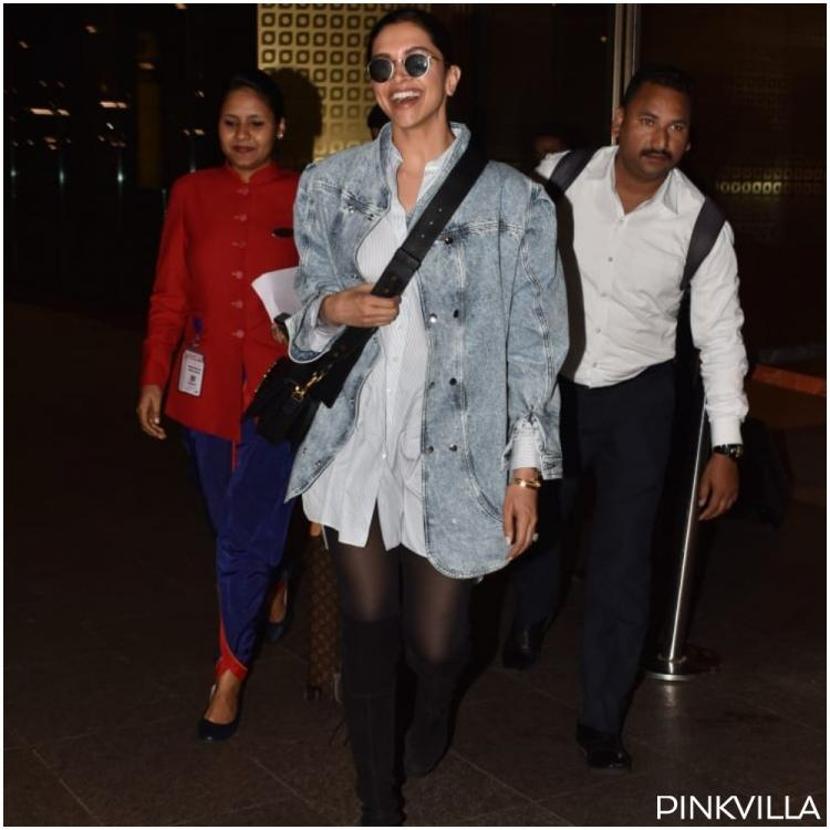 PHOTOS: Deepika Padukone's airport look as she returns to the bay is a chic combo that you ought to bookmark