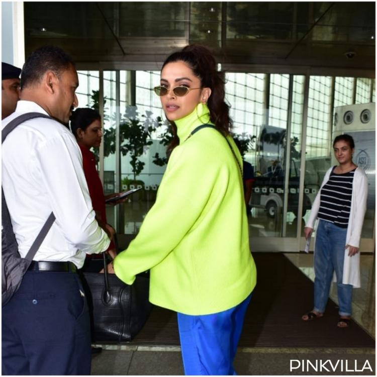 PHOTOS: Deepika Padukone spotted at the airport looking vibrant in a neon outfit; Check it out