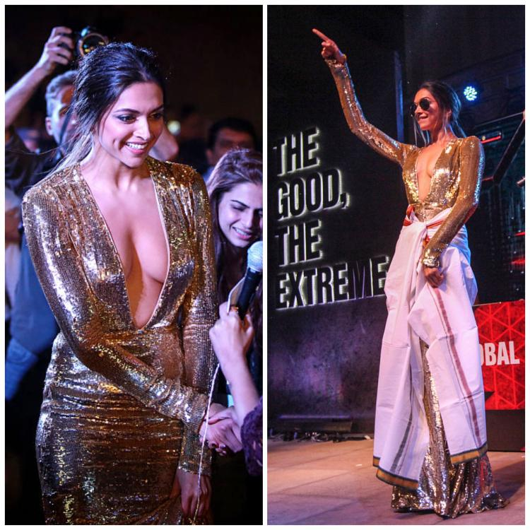Fashion Flashback: When Deepika Padukone did the 'Lungi Dance' in a plunging gold gown