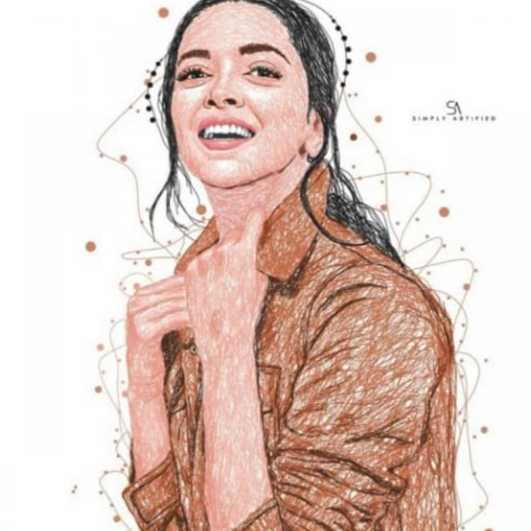 Deepika Padukone is mesmerised by a fan's stunning art work of her PHOTO and we couldn't agree more