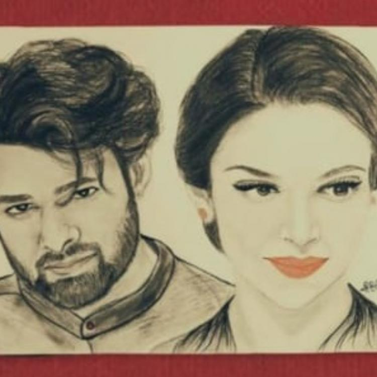 Deepika Padukone is mighty impressed with her & Prabhas' sketch made by a fan post announcement of their film