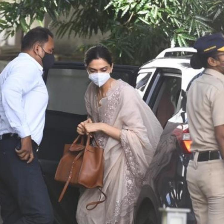 PHOTOS: Deepika Padukone arrives at NCB guest house for probe in drug nexus