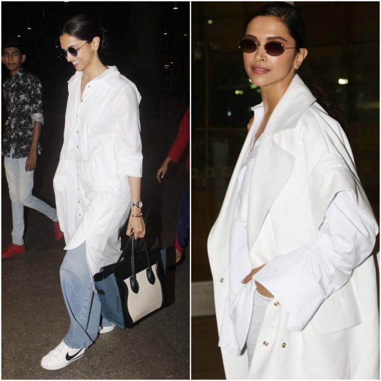 5 Times Deepika Padukone showed us how to rock a white shirt as she turned the airport into her runway