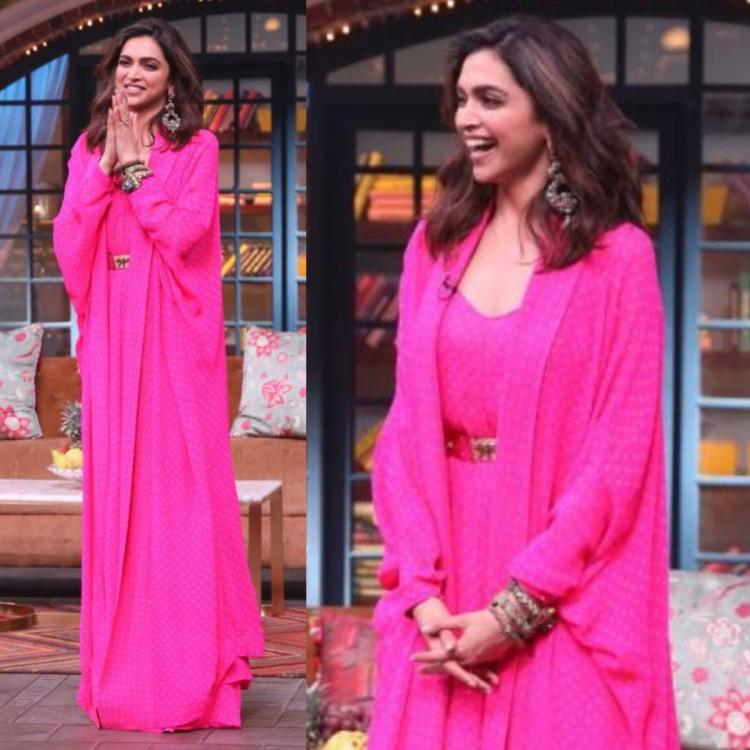 Deepika Padukone in a candy pink polka dot Sabyasachi outfit for the promotions of Chhapaak: Yay or Nay?