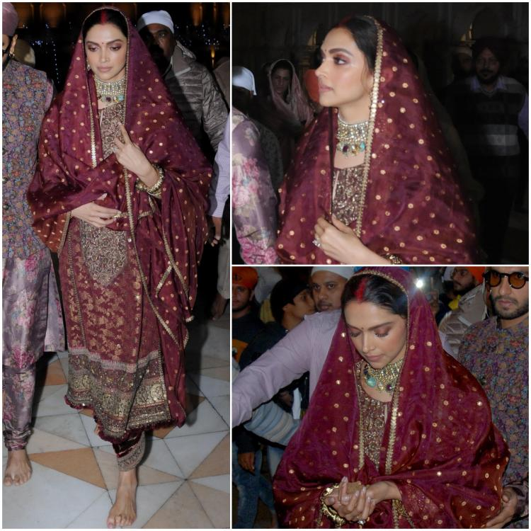 Deepika Padukone is the PERFECT Sindhi bahu in head to toe Sabyasachi at the Golden Temple with Ranveer Singh