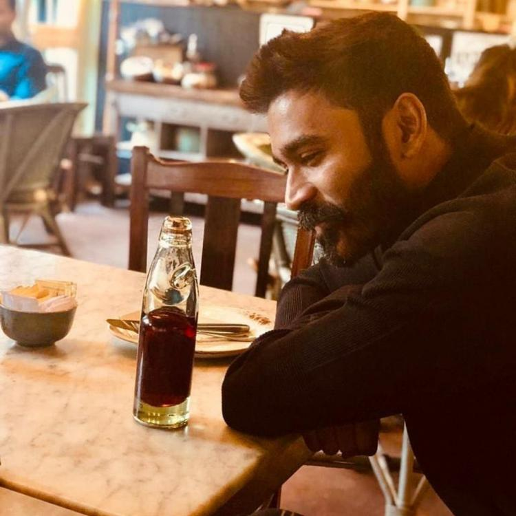 Dhanush proves he will be a forever heartthrob flaunting his bearded look in this latest photo
