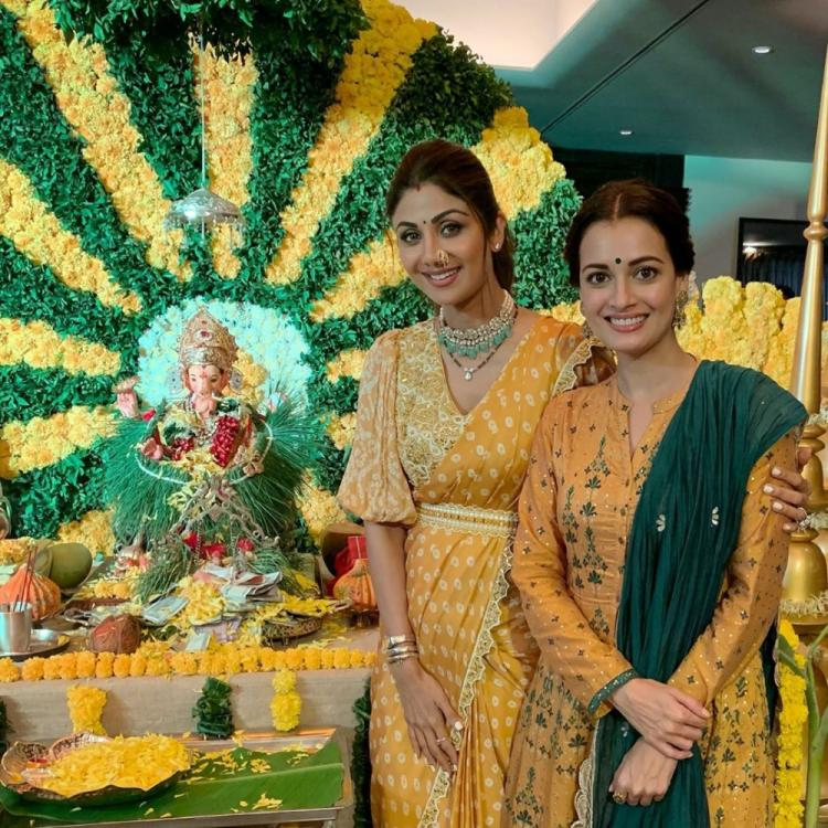 Dia Mirza applauds Shilpa Shetty for going eco friendly with Green Ganesha on this Ganesh Chathurthi