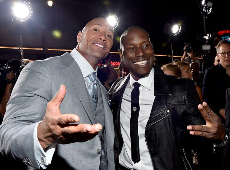 Tyrese Gibson threw shade at Furious 7 (2015) co-star Dwayne Johnson through a now-deleted Instagram post.