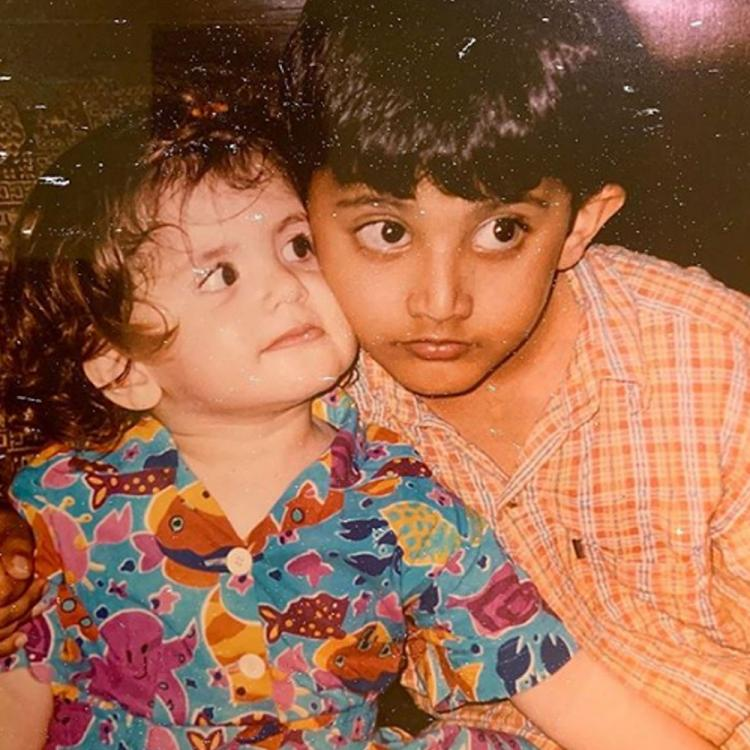 Dil Bechara's Sanjana Sanghi shares UNSEEN childhood photo with brother as they celebrate Rakhi after 4 years