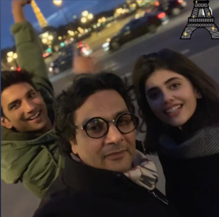 Dil Bechara: Sanjana Sanghi revisits an evening in Paris as Sushant Singh Rajput poses at Eiffel Tower; PIC