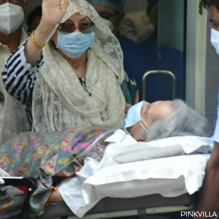 Dilip Kumar gets discharged from hospital; Saira Banu waves to paps as they leave for home; PHOTOS
