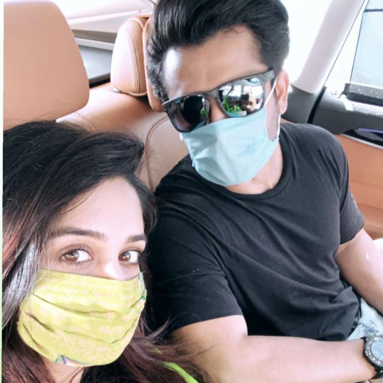 Dipika Kakar and Shoaib Ibrahim get used to the 'new normal' as they head out with their masks on; See Pic