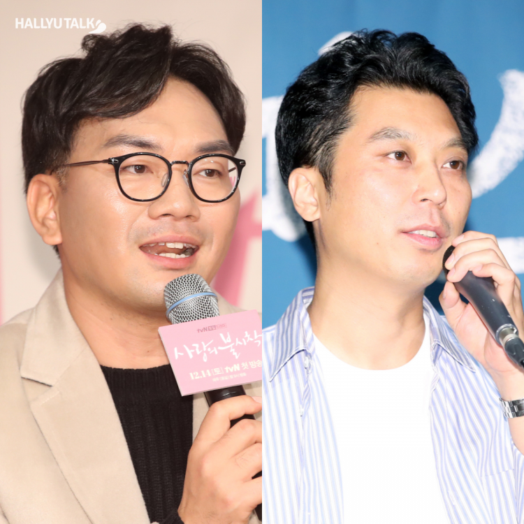 Directors Lee Jung Hyo and Lee Eung Bok at different events