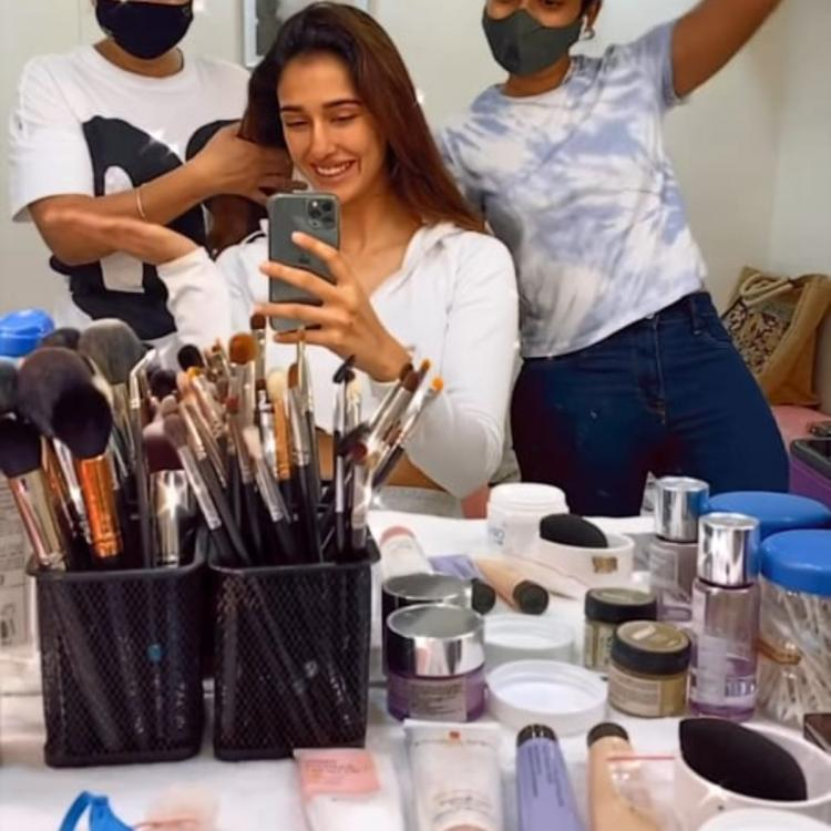 Disha Patani boomerangs into work mode as she expresses elation on returning to sets with her team; WATCH