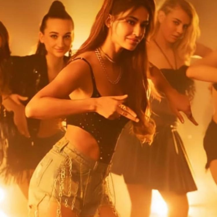 Disha Patani in a BTS video from Radhe title track