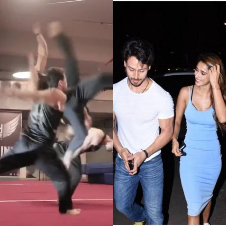 Disha Patani is awestruck as Tiger Shroff 'storms' into our feed while attempting flips; Throwback video