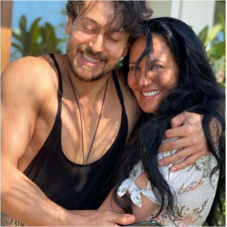 Tiger Shroff with his mom
