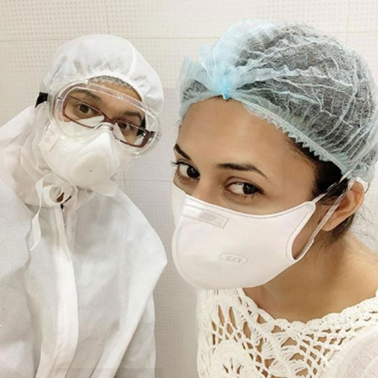 Divyanka Tripathi visits her dentist during Corona times; Shares pic flashing her 'pearlies' with a mask