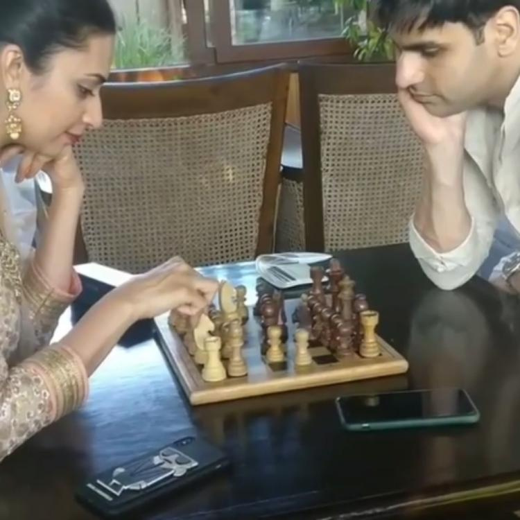Divyanka Tripathi & Vivek Dahiya make for an adorable duo as they enjoy a game of chess in a throwback VIDEO