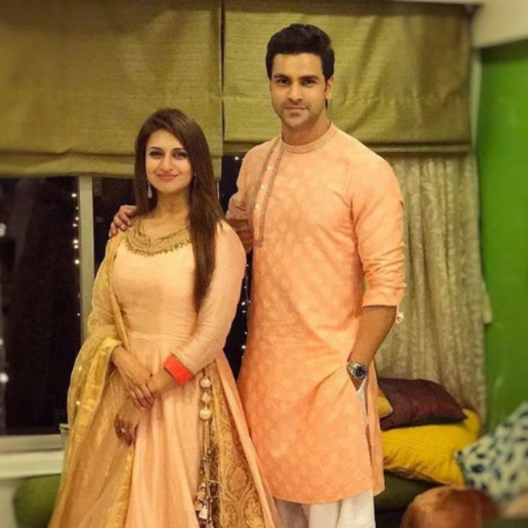Divyanka Tripathi & Vivek Dahiya twin in traditional outfits as they pose together in a throwback PHOTO