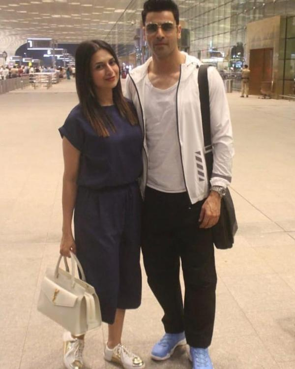 IN PICS: Divyanka Tripathi and Vivek Dahiya are a happy couple as they jet off to Macau for a quick vacation