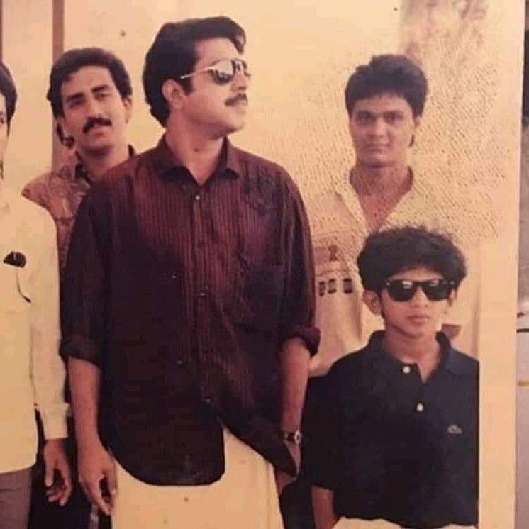 Dulquer Salmaan's stylish childhood picture with dad Mammootty is going viral & we are totally in love with it