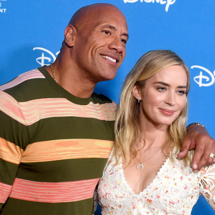 Dwayne Johnson,The Rock,emily blunt,Hollywood,Ball and Chain