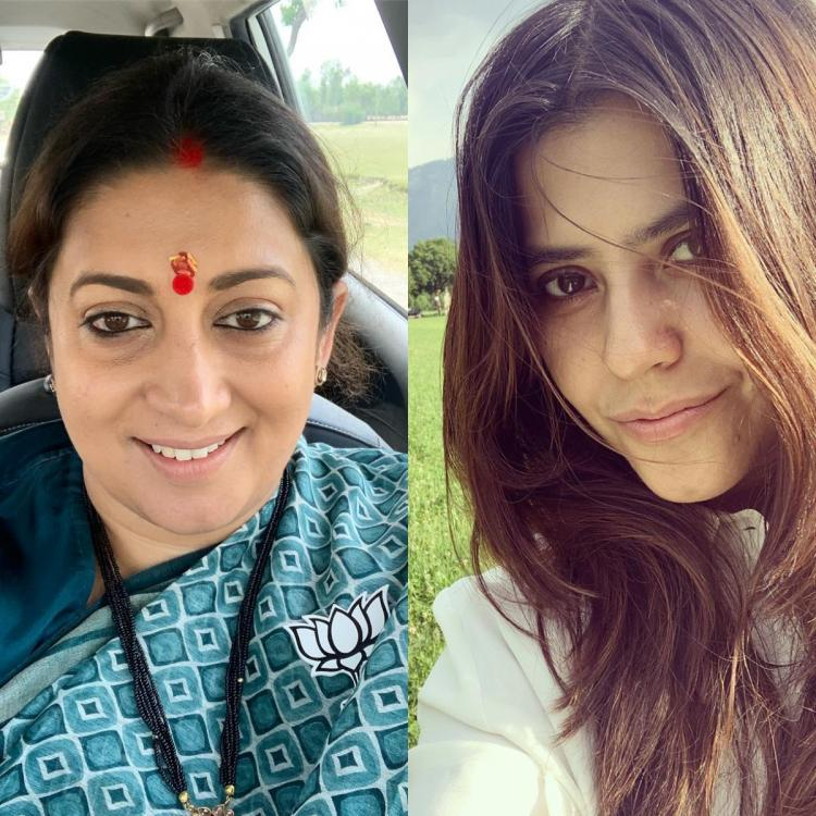 Ekta Kapoor gives an epic reply on Smriti Irani's FaceApp challenge picture; Check it out