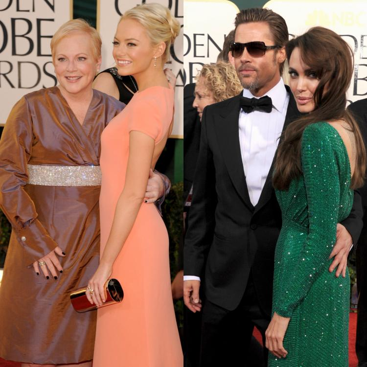 Emma Stone and her mother had sat next to Brad Pitt and Angelina Jolie during Golden Globes 2011